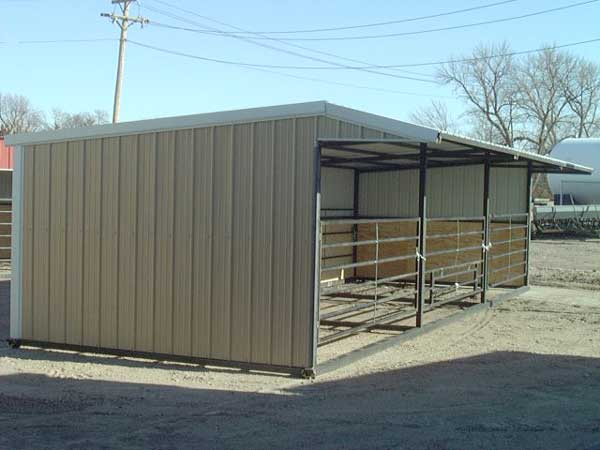 Head Gate Cattle Building Horse Barn W Overhang